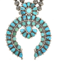 Petit Point Squash Blossom Necklace 28691