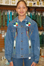 Native American Jacket Clothing Indian Artifact Denim Beaded Embroidered Indian Ghost Shirt