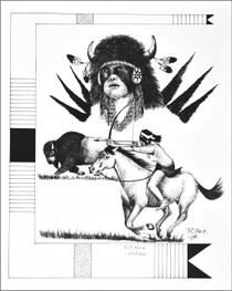 Limited Edition Native American Print by Native American Artist Frankie C. Nez