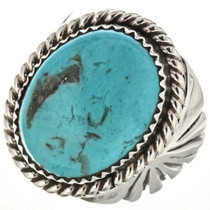 Blue Turquoise Navajo Mens Ring