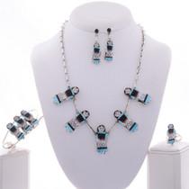 Zuni Maiden Inlaid Jewelry Set 28003