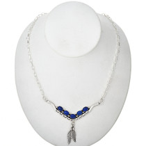 Blue Lapis Silver Necklace