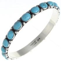 Turquoise Silver Bangle Bracelet 24461