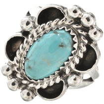 Turquoise Silver Ladies Ring 26885