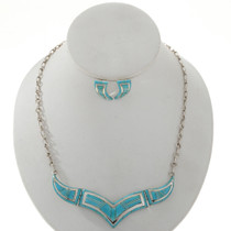 Hinged Turquoise Navajo Necklace Set 27734