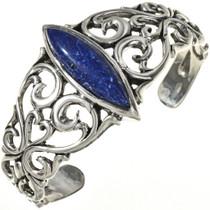 Lapis Silver Ladies Bracelet