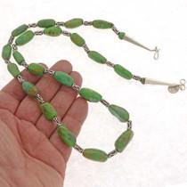 Navajo Silver Bead Necklace 25379