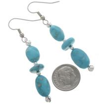 Kingman Turquoise Dangle Earrings 28264