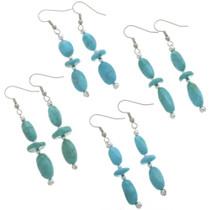 Natural Kingman Turquoise Earrings 28264