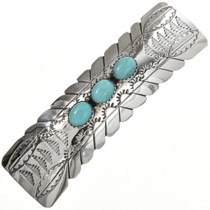 Navajo Turquoise Sterling Barrette 23765