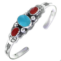 Childrens Navajo Three Stone Cuff 0177
