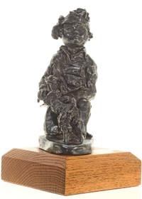 Navajo Boy with Lamb Bronze Sculpture 27238