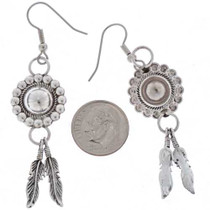 Navajo Silver French Hook Earrings 16355