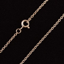 Chic Vermeil Rose Gold Small Link Chain Choker Necklace 2005