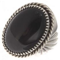 Onyx Silver Mens Ring 22040