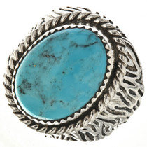 Navajo Turquoise Silver Mens Ring