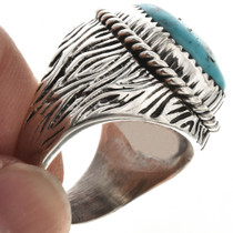 Grooved Silver Mens Ring