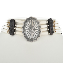 Tribal Bone Choker Necklace 17823