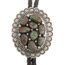 Turquoise Silver Bolo Tie 23411