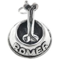 Sterling Silver Dog Bowl & Bone Charm Bracelet Charm Pendant Necklace