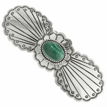 Malachite Silver Navajo Hair Barrette 29346