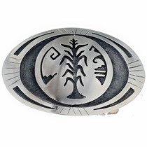 Hopi Overlaid Belt Buckle 22036