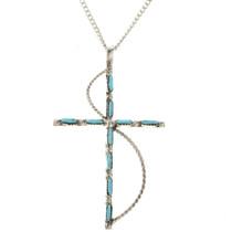 Needlepoint Turquoise Silver Pendant 28830