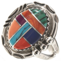 Turquoise Multi-stone Silver Ring