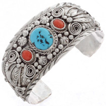 Turquoise Coral Bracelet 16058