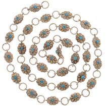 Vintage Turquoise Link Concho Belt 25974