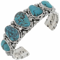 Turquoise Silver Cuff Bracelet 21021