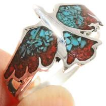 Phoenix Firebird Turquoise Silver Ring 27566