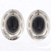 Onyx Sterling Concho Cuff Links 25571-