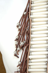 Bone Leather Indian Breastplate 22661