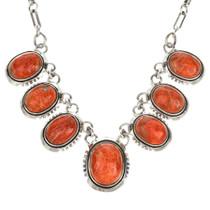 Coral Sterling Southwest Link Necklace