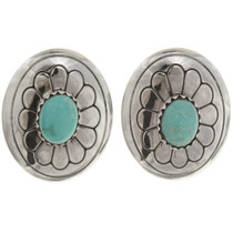 Navajo Turquoise Concho Earrings 22394