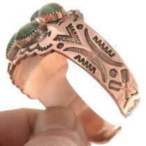 Turquoise Copper Cuff Ladies Navajo Bracelet