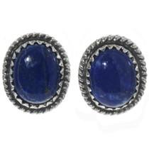Lapis Silver Stud Earrings Earrings