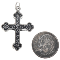 Sterling Silver Botonnee Cross Charm Bracelet Pendant Necklace
