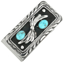 Genuine Kingman Turquoise Money Clip 26849