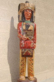 Carved Wooden Cigar Store Indian by Frank Gallagher 5 Footer