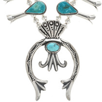 Hammered Sterling Turquoise Naja 29416