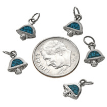 Turquoise Chip Silver Charm 17439