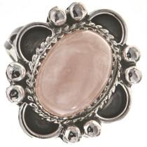 Pink Quartz Silver Ladies Ring 28683