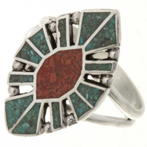 Turquoise Coral Ladies Ring
