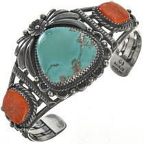 Turquoise Mountain Coral Silver Bracelet 28640