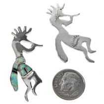 Silver Kokopelli Post Earrings 29539