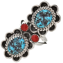 Turquoise Coral Ladies Pointer Ring 28902