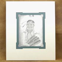 """Original """"Navajo Maiden"""" Navajo Pencil Sketch by Frankie Nez"""