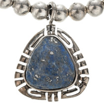 Lapis Sterling Desert Pearl Necklace 29565